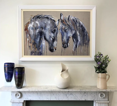 Horse painting by Louise Luton