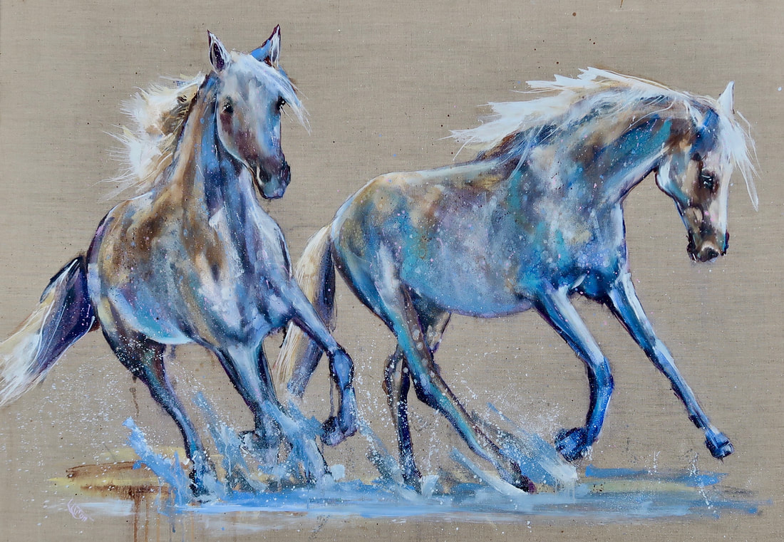 horses painting louise luton