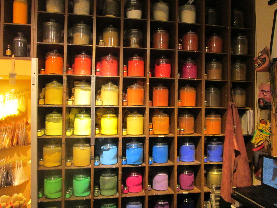 Art pigments in Venice