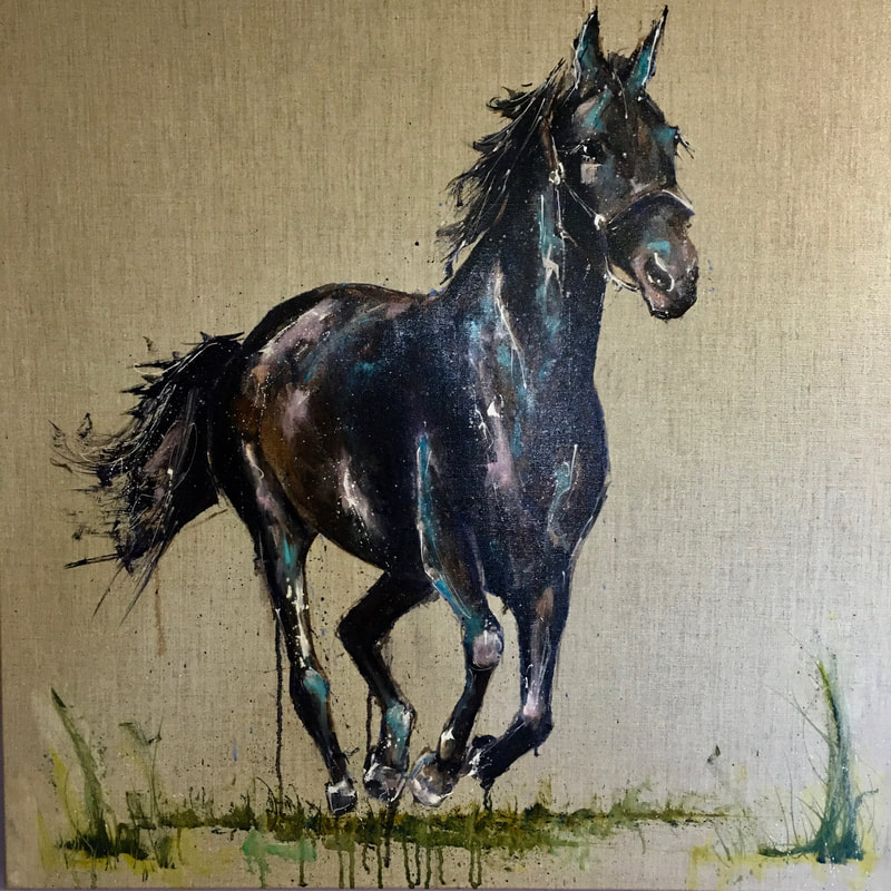 Onyx Painting Horse Louise Luton