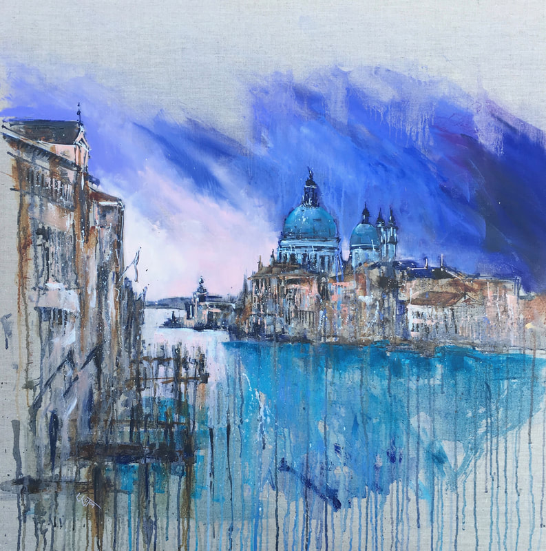 Painting of venice from the Academia