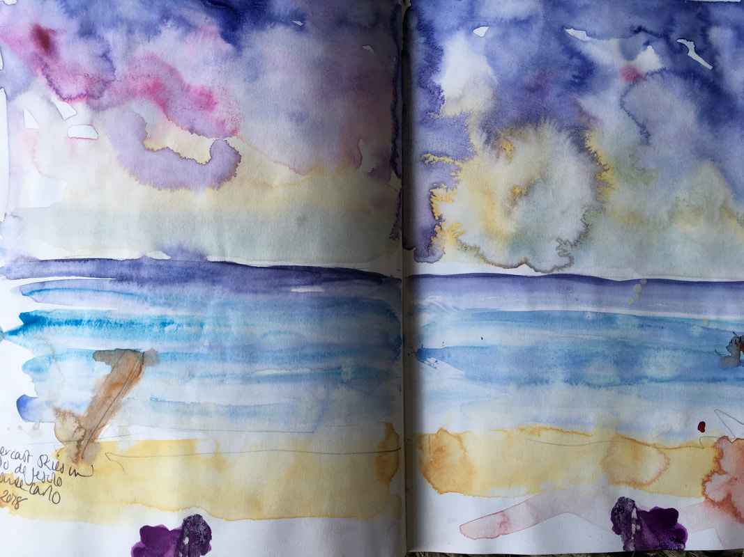 Example of a quick seascape in my sketchbook