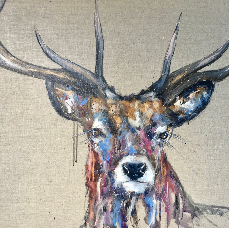 Painting Stag Brody Louise Luton