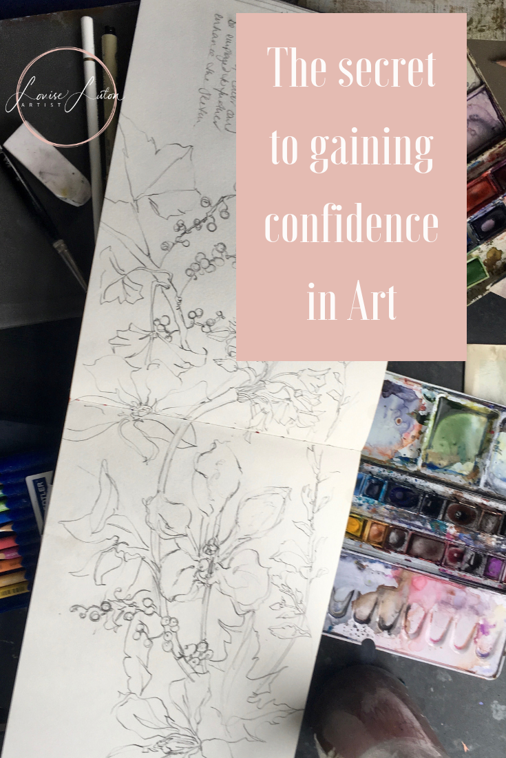 The secret to gaining confidence in art