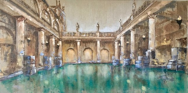 Painting of the baths at Bath