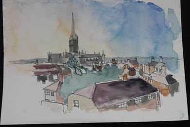 Sketchbook. Sketching out and about in Salisbury