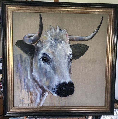 White Park Cattle Painting